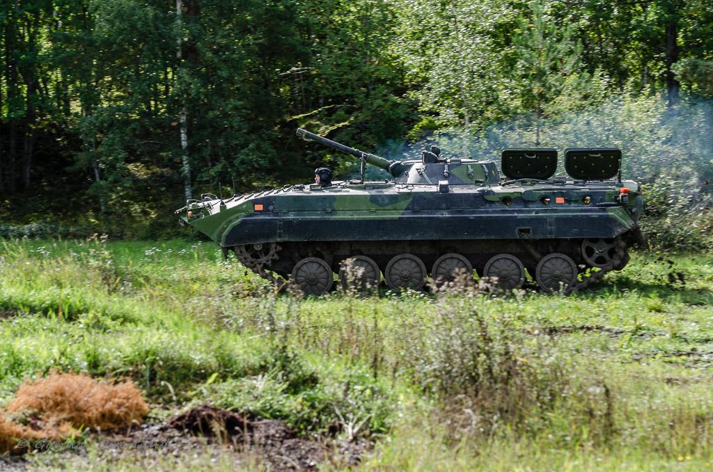Pbv 501 under uppvisning vid Arsenalen.