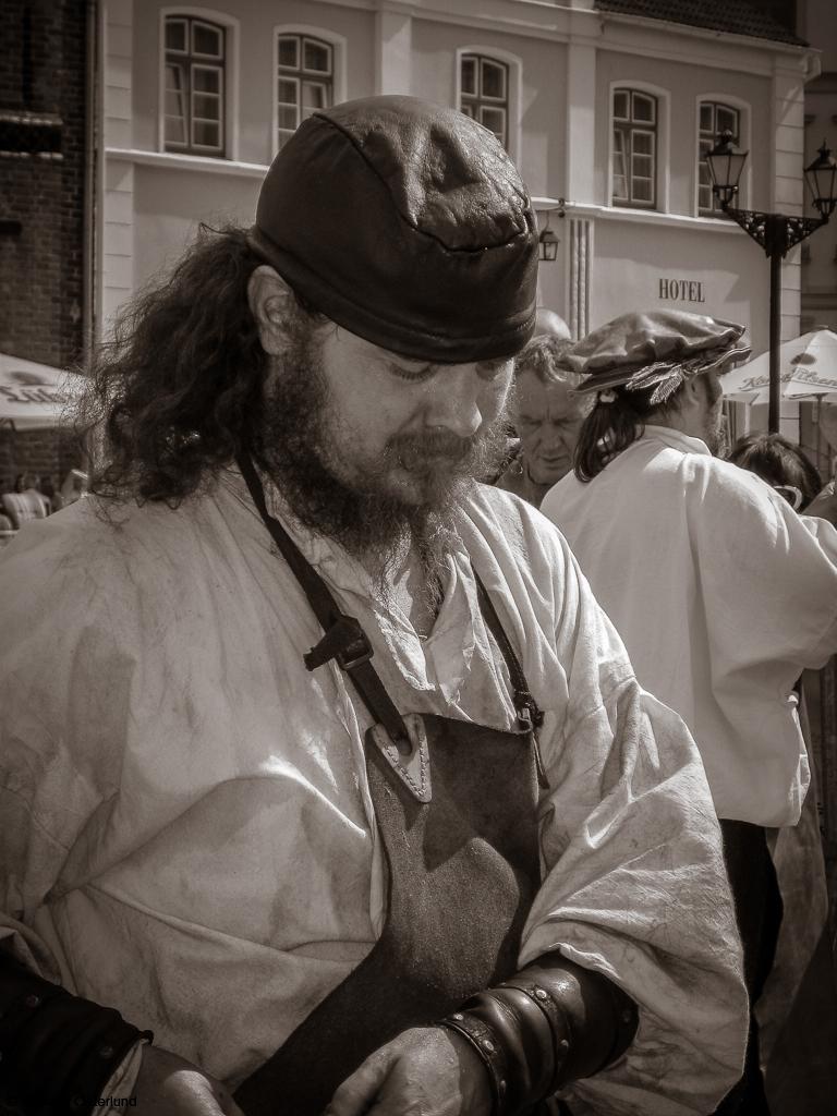 En av deltagarna i Schwedenwoche i Wismar, Tyskland.