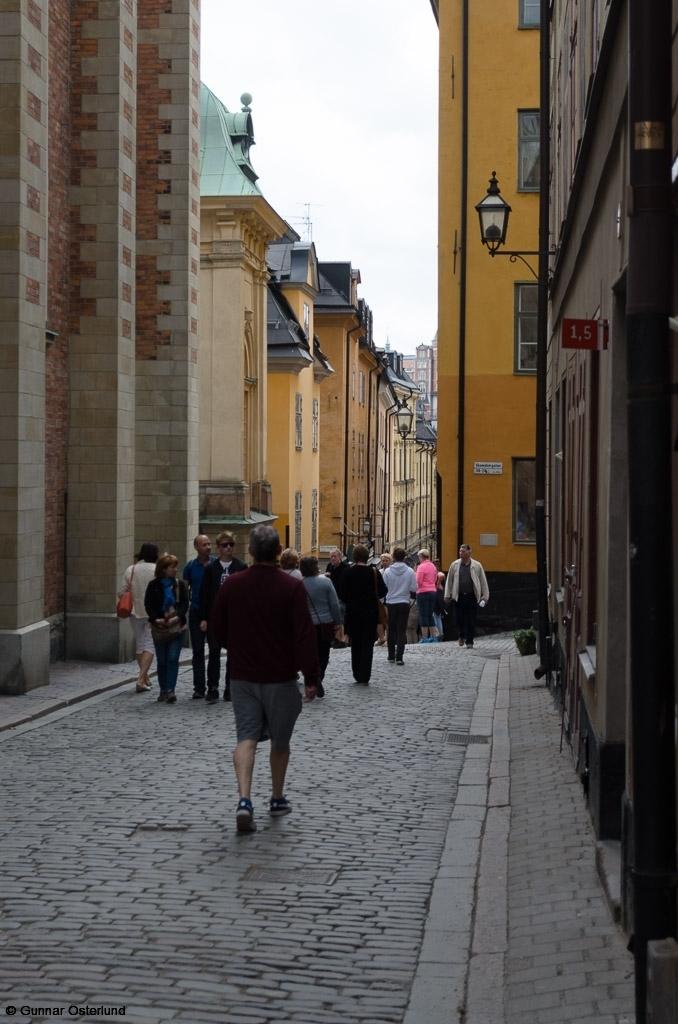 I Gamla stan i Stockholm.