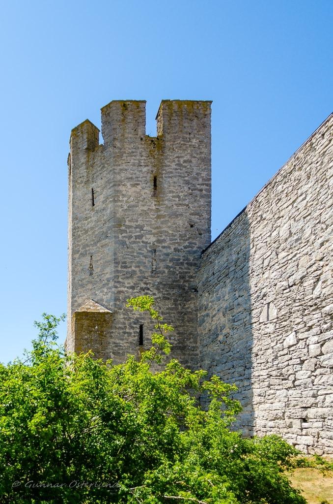 Ett av de många tornen i ringmuren.