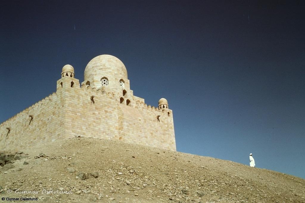 Aga Khans mausoleum i Assuan.