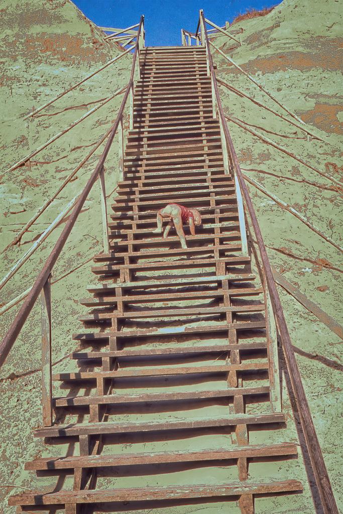 Fredrik i trappan i Lökken