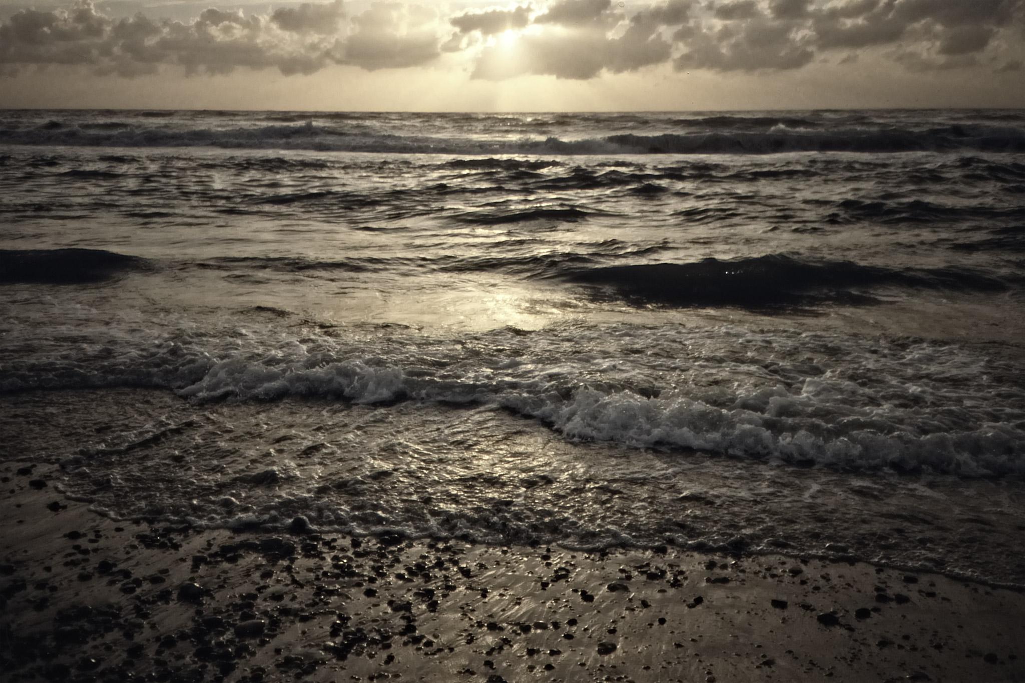 Sen eftermiddag över Nordsjön.