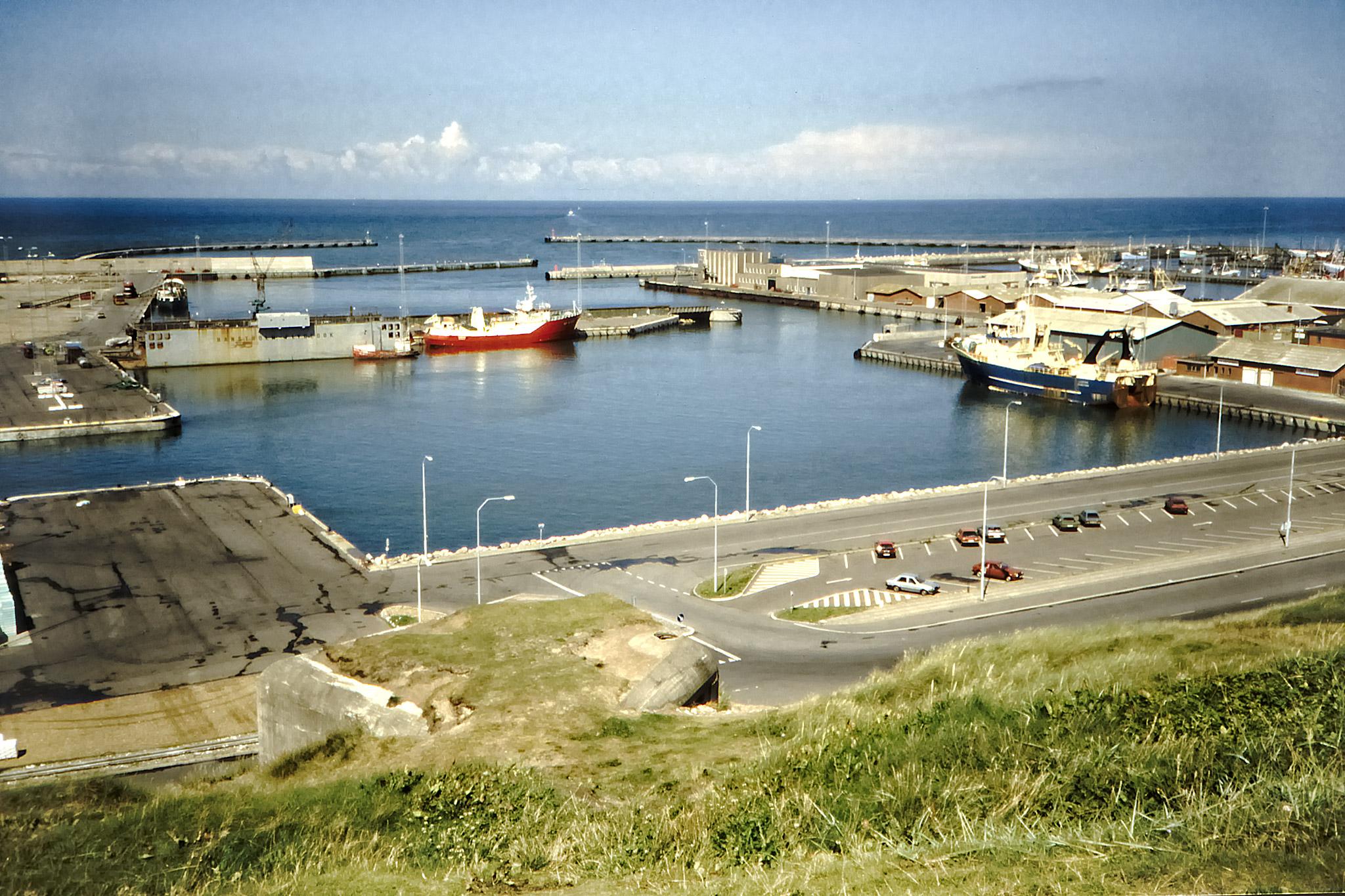 Fiskehamn på Jyllands västkust.