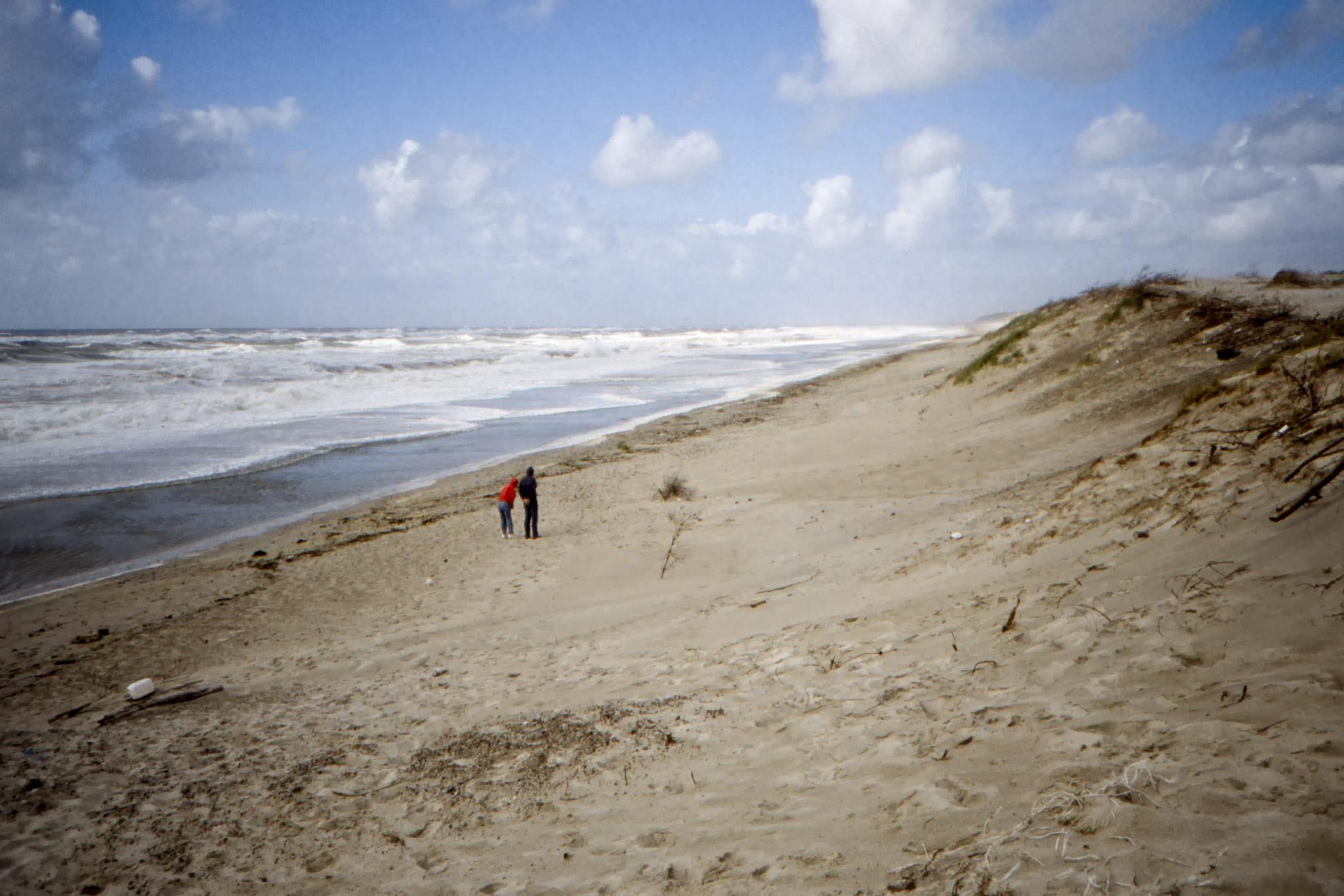Sandstrand på Jyllands västkust.