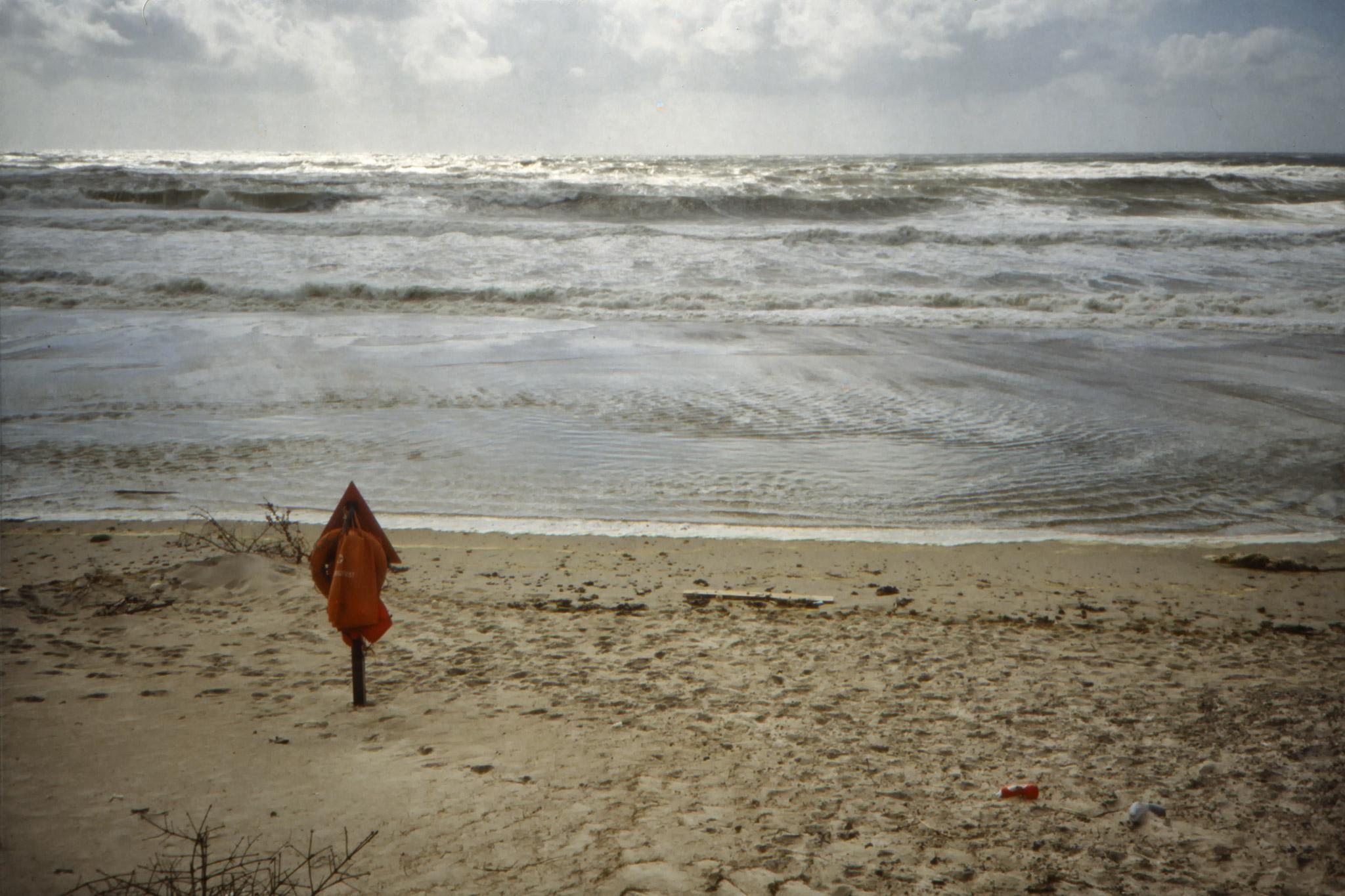 Nordsjön svallar. Stormvarning är utfärdad.