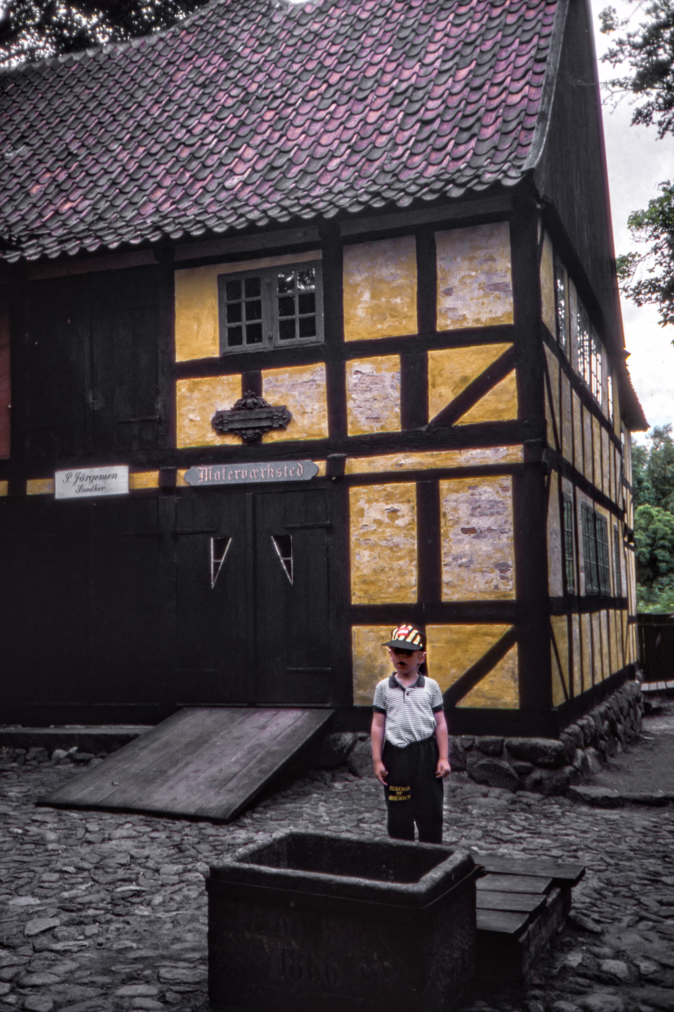 Arvid i den Gamle By i Århus.