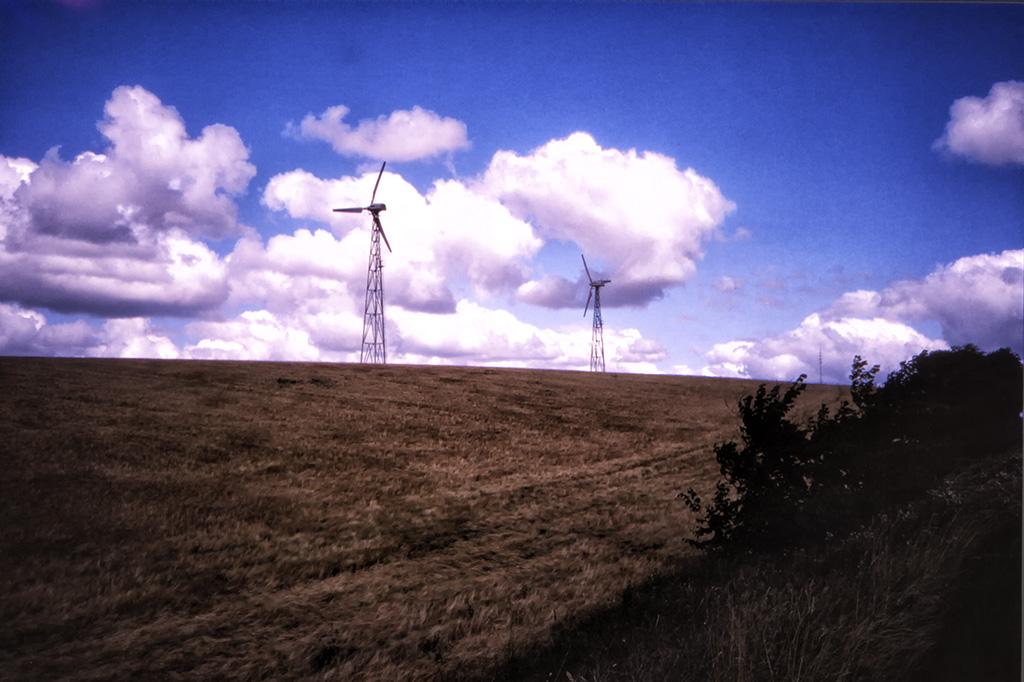Vindkraftverk utanför Ebeltoft.