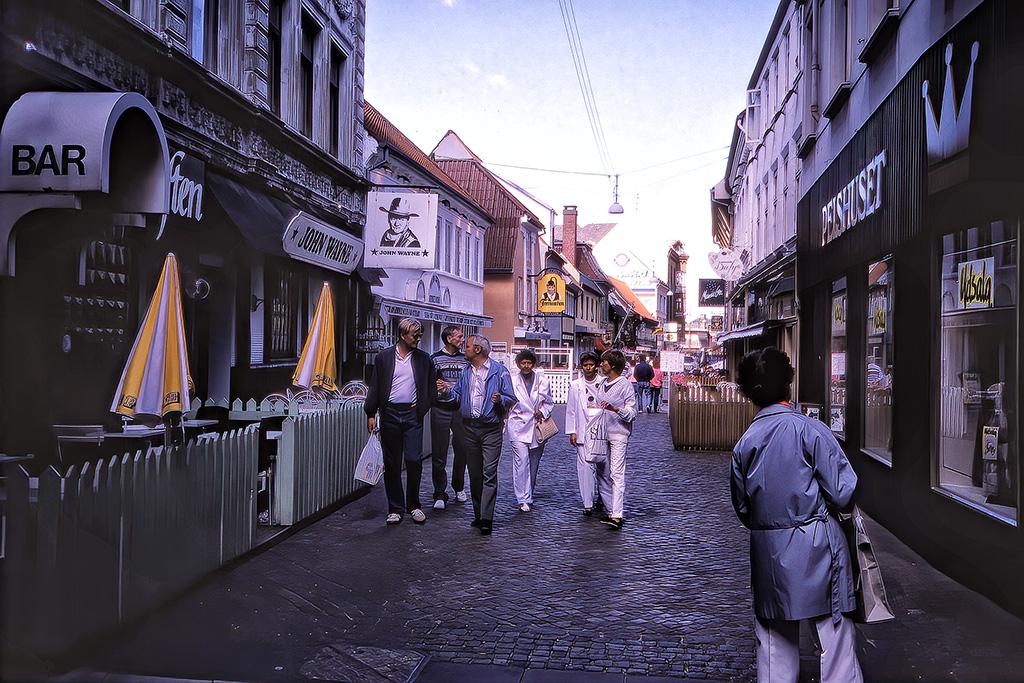 Gatumiljö i Randers.