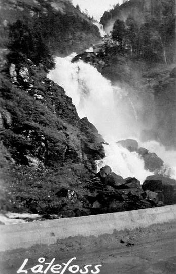 Låtefoss, ett välkänt vattenfall