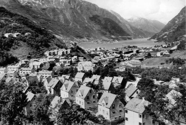 Odda, en liten stad längst in vid fjordens slut