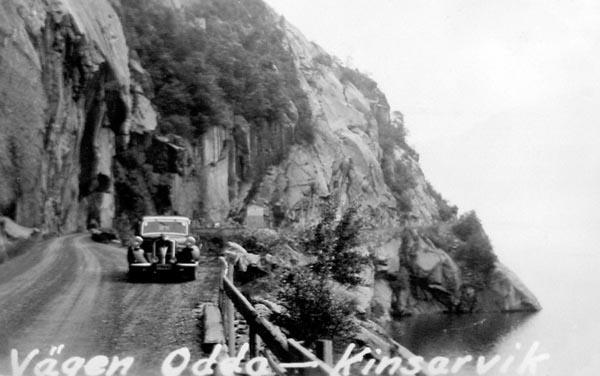 Vägen mellan Odda och Kinsarvik var smal