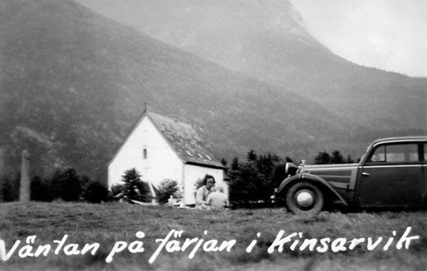 I Kinsarvik fick vi vänta på färja