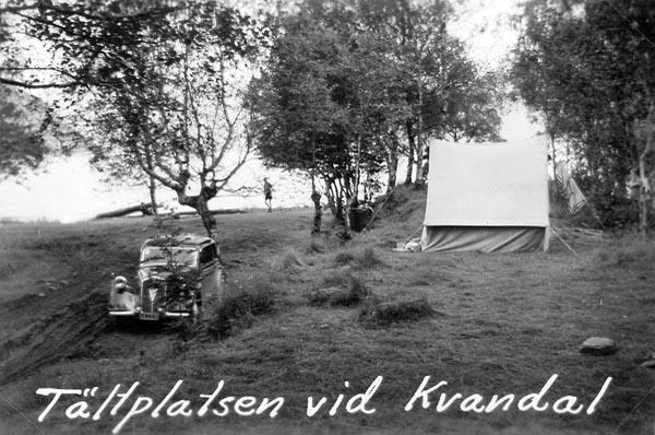 Tältplatsen i Kvanndal