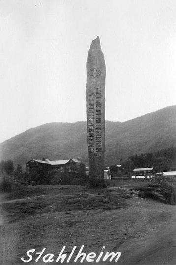 Monument vid Stahlheim