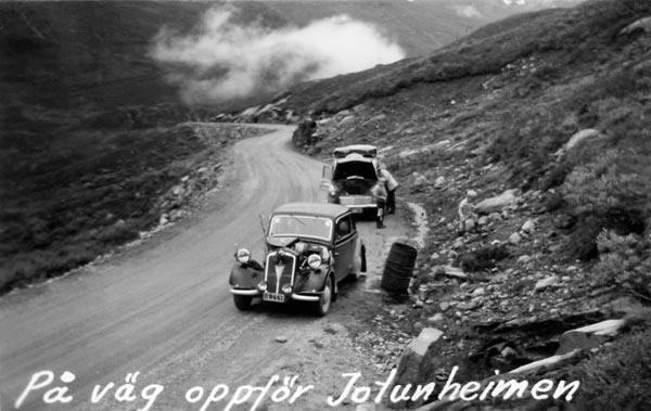 Jotunheimen. 1953 var det inte så ovanligt med kokande kylare
