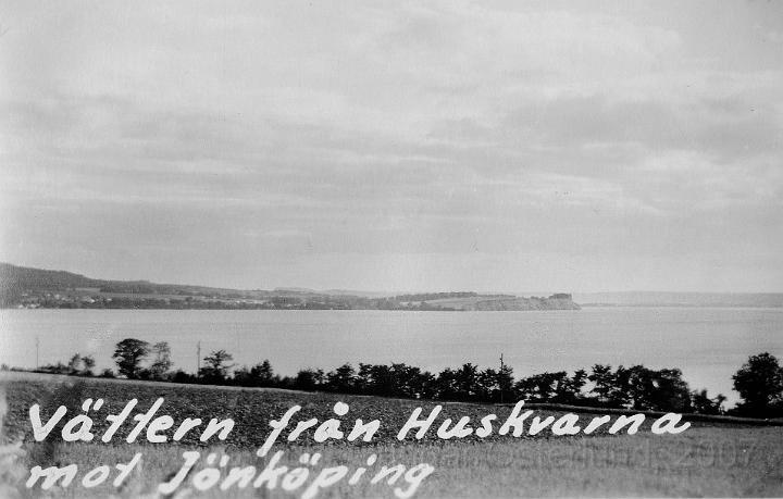 Utsikt från Huskvarna.