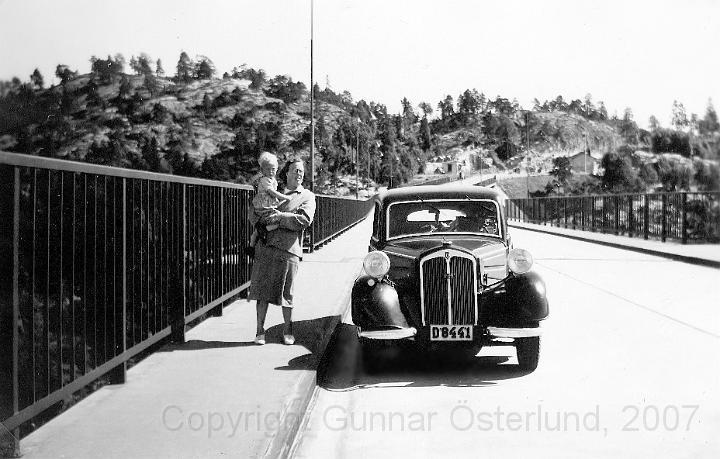 Jag och min mamma på Svinesundsbron