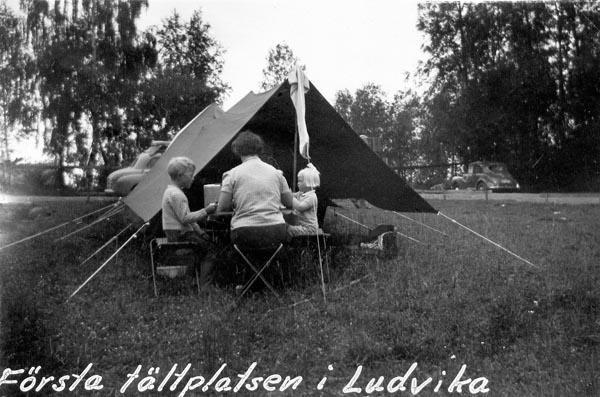 Första tältplatsen i Ludvika