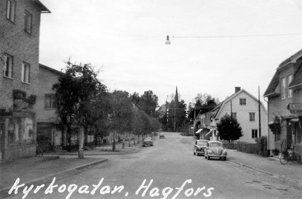 Kyrkogatan i Hagfors.
