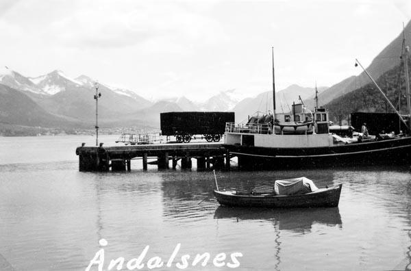 Färjeläget vid Åndalsnes dit vi färjade för att komma till Trollstigen