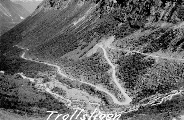 Lika krokig som välkänd är Trollstigen