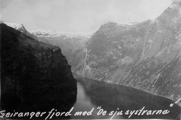 Geirangerfjord och De sju systrarna.