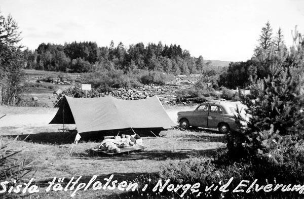 I Elverum tillbringade vi sista natten i Norge.