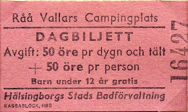 Vi övernattade på Råå Vallars camping utanför Helsingborg.