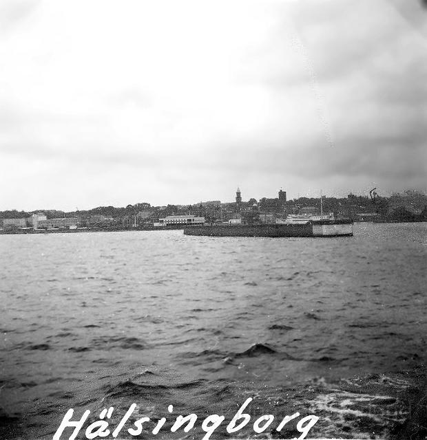 Helsingborg sett från färjan till Helsingör