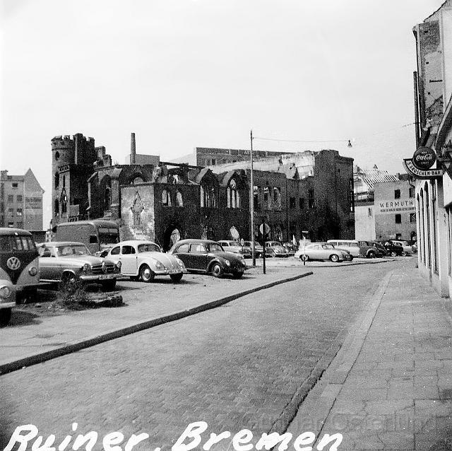 Det fanns fortfarande ruiner kvar sedan kriget i Bremen