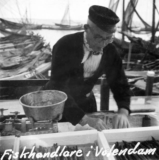 Fiskhandlare i Volendam
