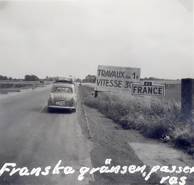 Franska gränsen passeras