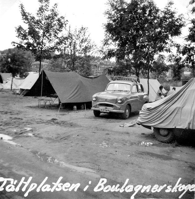 Campingplatsen i utkanten av Paris