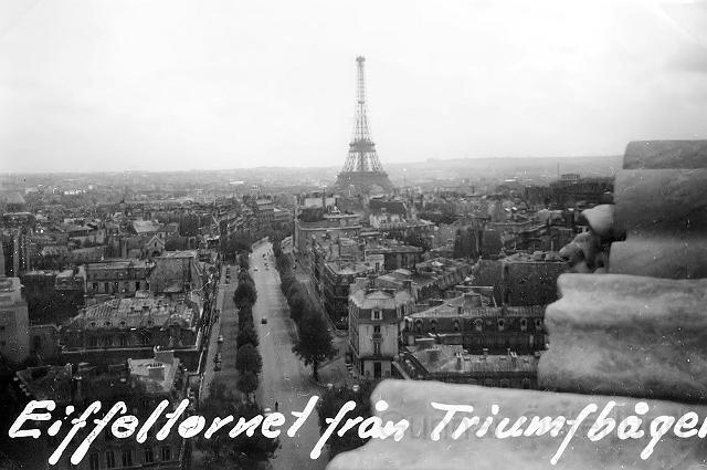 Eiffeltornet sett från Triumfbågen