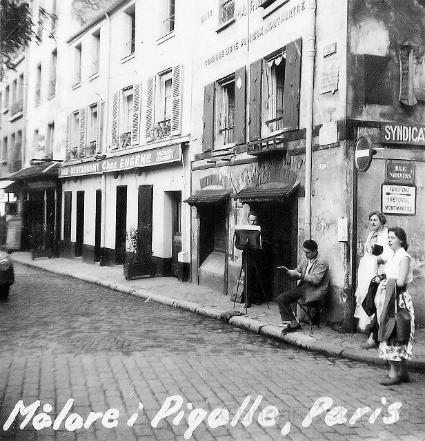 Pigalle, känt för sina konstnärer