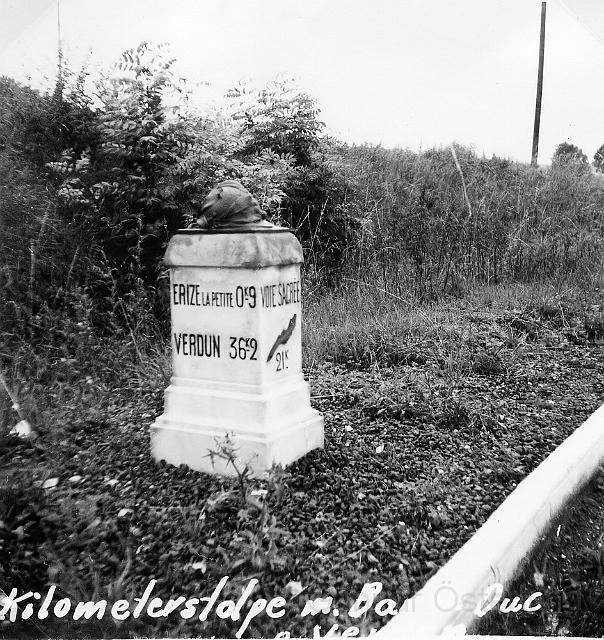 Kilometersten nära Verdun
