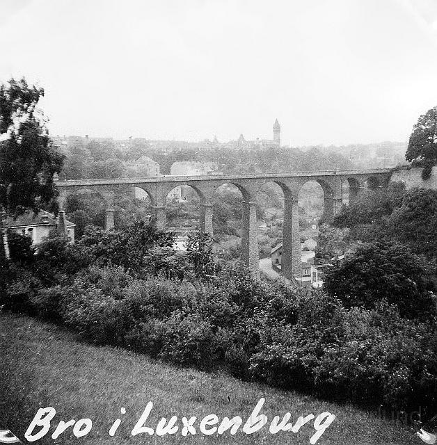Hög bro.i Luxemburg