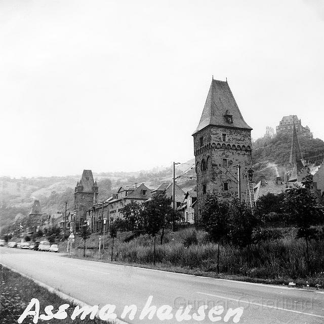 Assmanhausen, en liten stad vid Rhen