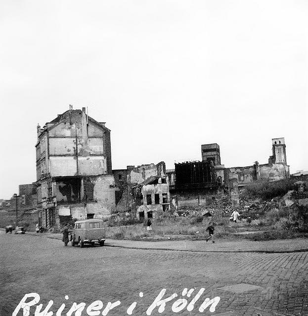 Det fanns de som bodde i dessa ruiner i Köln.