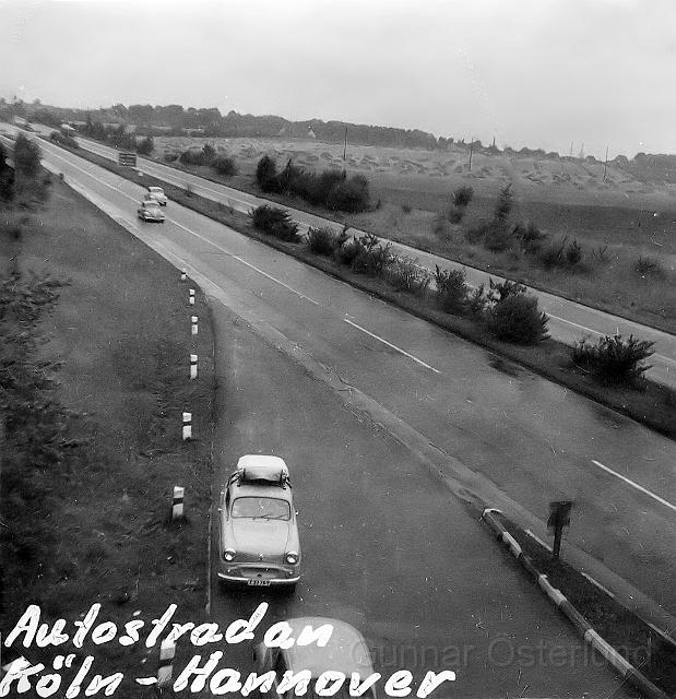 Autobahn mellan Köln och Hannover