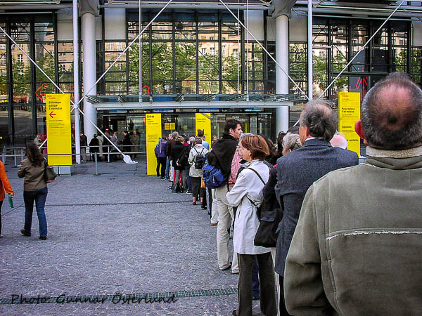 Kön till Centre Pompidou.