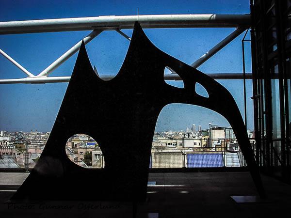 Utsikt från Centre Pompidou.