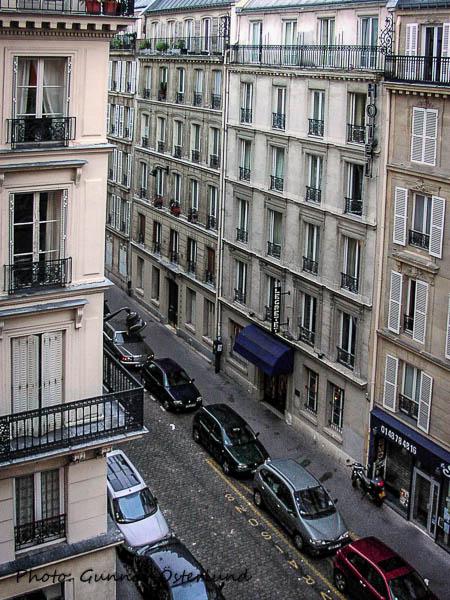 Utsikt från hotellrummet.