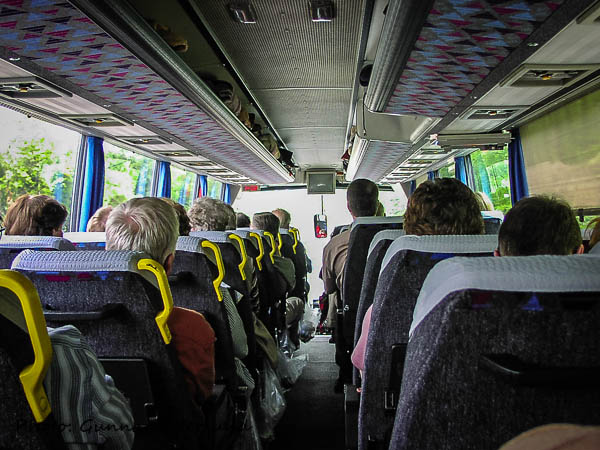 Bussen var bekväm.