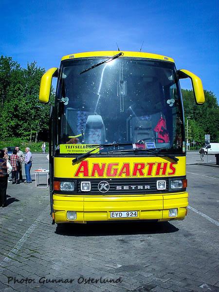 Med denna buss skulle vi resa till Paris och åter.