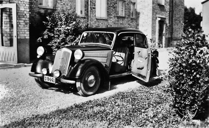 Starten av 1951 års semesterresa från Gränsgatan 16B i