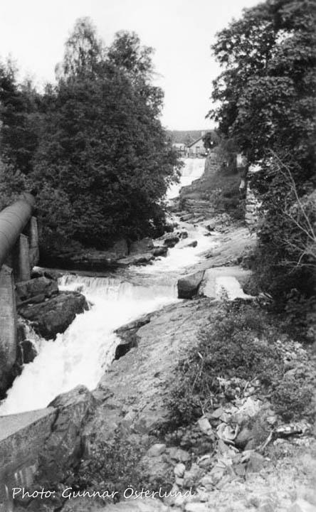 Vattenfall mitt i Lillehammer