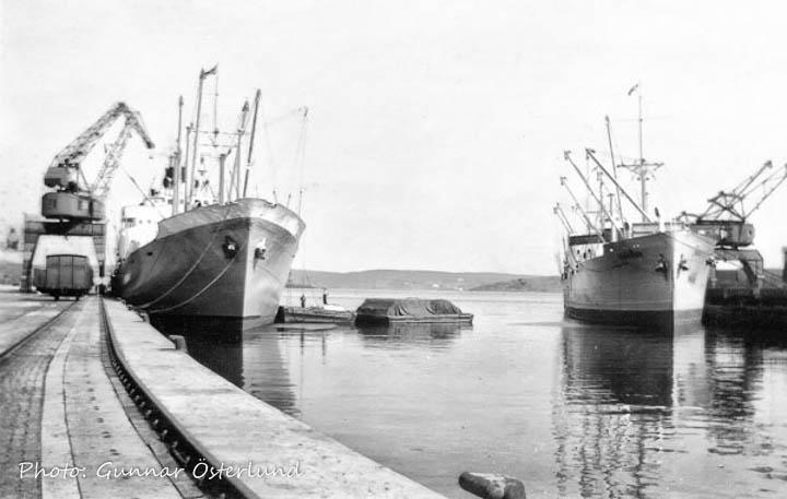 Lastning av papper i Sundsvalls hamn