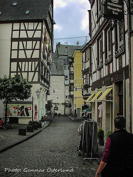 Bebyggelsen i Bernkastel-Kues var gammal